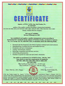 Joint Line System Certificate of Quality